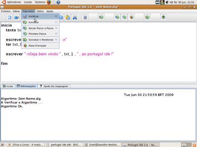 Linux: Portugol ide