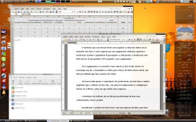 Linux: PlayOnLinux rodando Word e Excel