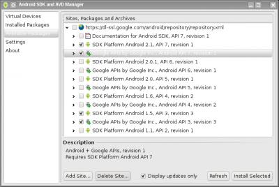 Linux: Instalando o Android SDK na plataforma Linux.
