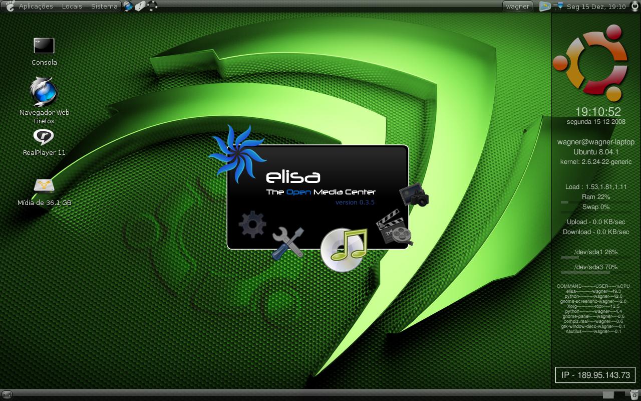 Linux Elisa Media Center