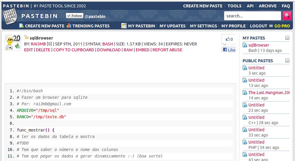 Linux: Pastebin e outros integrados ao seu Gnome