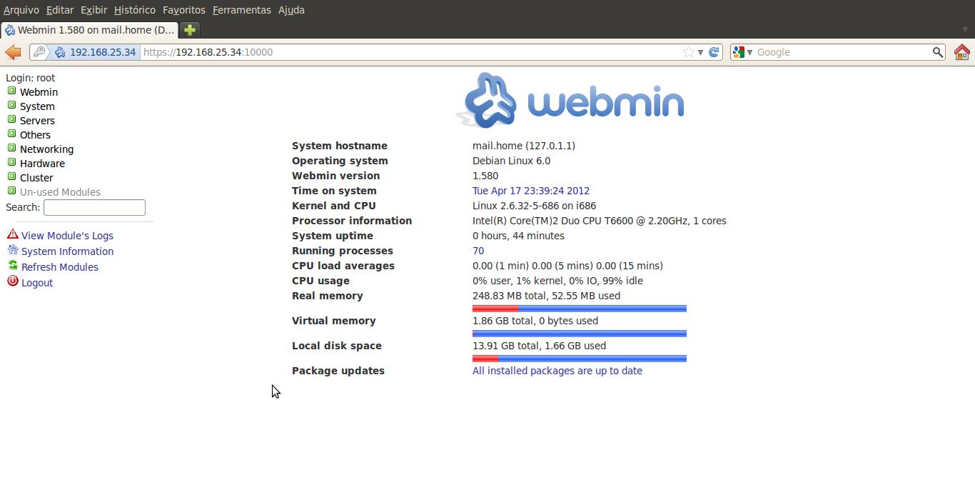 webmin debian: