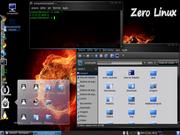 Linux: glassy blue